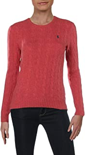 Womens Julianna Wool Ribbed Trim Pullover Sweater