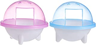 POPETPOP 2個小動物銭湯ハムスター浴室ケージトイレバスタブ砂マウスチンチララットgerbilとドワーフハムスタートイレ