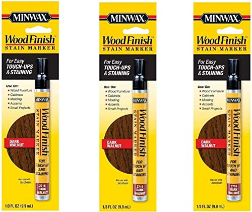 high quality Minwax 63487 Wood Finish Dark Walnut online Stain Marker Interior Wood (3 lowest Pack) outlet sale
