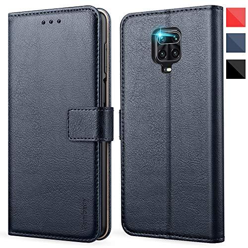 Ganbary Handyhülle für Xiaomi Redmi Note 9s/9 Pro Hülle, Premium Leder Tasche Flipcase [Kartenschlitzen] [Standfunktion] für Note 9s Schutzhülle, Blau