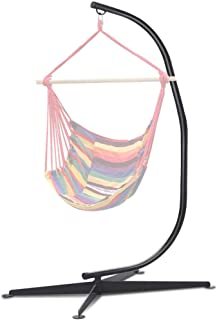 Zupapa C Hanging Hammock Chair Stand Only for Air Chair Porch Swing, Heavy Duty 380lbs Capacity, Rug, Pegs and Hook Included, Outdoor/Indoor Use(7FT)