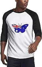 BIAOSD Unisex Raglan T-Shirt Baseball Shirt 3/4 Sleeve Plain Raglan