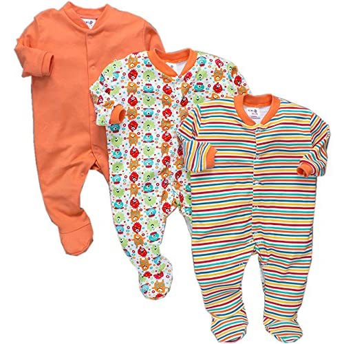 efbf757936 Tinchuk Cotton Multi Color Romper Body Suite for New Born Baby Pack of 3