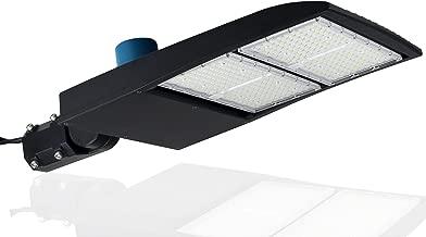 300 Watt NextGen II LED Parking Lot Lights - 40,500 Lumen - Super Efficiency 135 Lumen to Watt - 5000K Bright White - Replaces 1000W Halide - LED Shoebox Lights - Slip Fit Mount - with photocell
