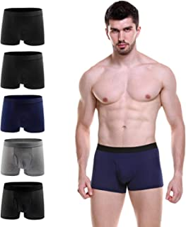 Men Underwear Classic Cotton Underwear,Men's Boxer Briefs Elastic Underwear with Long Open Multipack