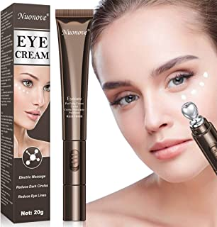 Anti Wrinkle Eye Cream, Under Eye Cream, Eye Cream Moisturizer, Eye Cream Serum, Eye cream with electric massager, Reduce Dark Circles and Wrinkle Care, Puffiness, Eye Bags, 20ml