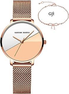 Women's Quartz Watches Rose Gold Mesh Stainless Steel Waterproof Laides Wrist Watch