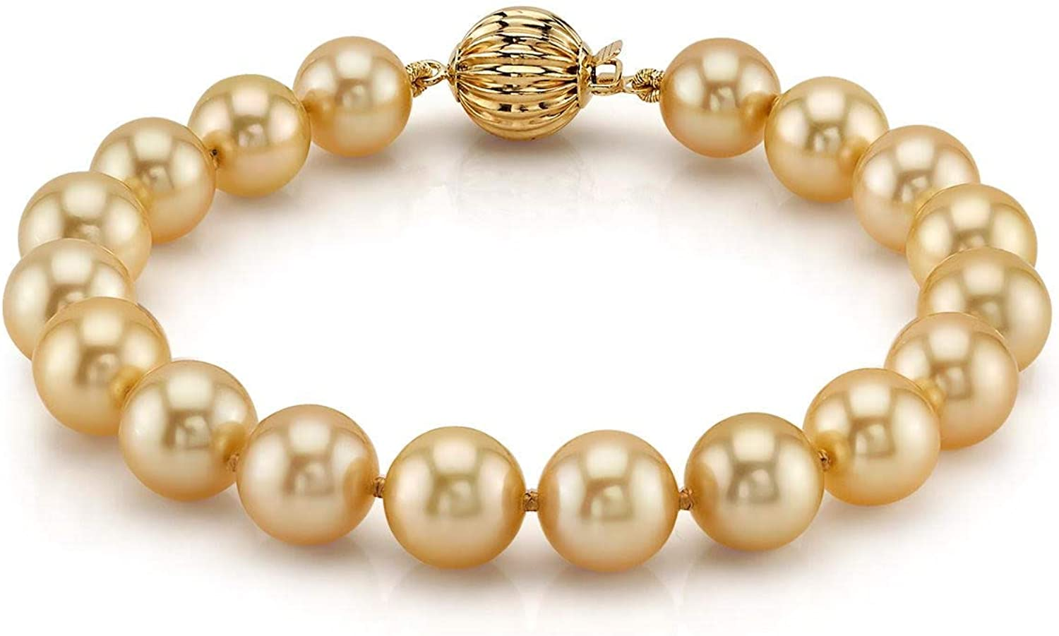 THE PEARL SOURCE 14K Max 72% OFF Gold 9-10mm Genuine Quality Selling rankings AAAA Dark Round