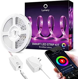 WiFi LED Strip Lights RGB 9.8ft - Lumary Color Changing Light Strip Kits Music Sync Waterproof Work with Alexa Google Home for Bar Party and Home Decoration(NOT Support 5G WiFi) (RGB 9.8ft)