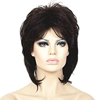 Lydell Short Length Layered Shaggy Full Synthetic Wig Wigs #2SP33 Brown