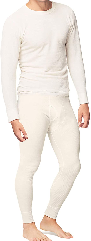 Place and Street Men's Cotton Thermal Underwear Set Shirt Pants Long Johns