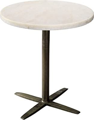 Teton Home AF-127 Wooden Side//End Table with Round Top