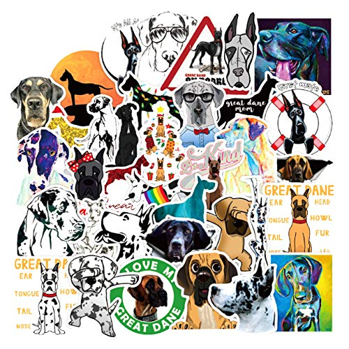 50pcs/Pack Great Dane Animals Grafftit Stickers for Motorcycles Water Cups Furniture Children's Toys Luggage Skateboards Box DIY