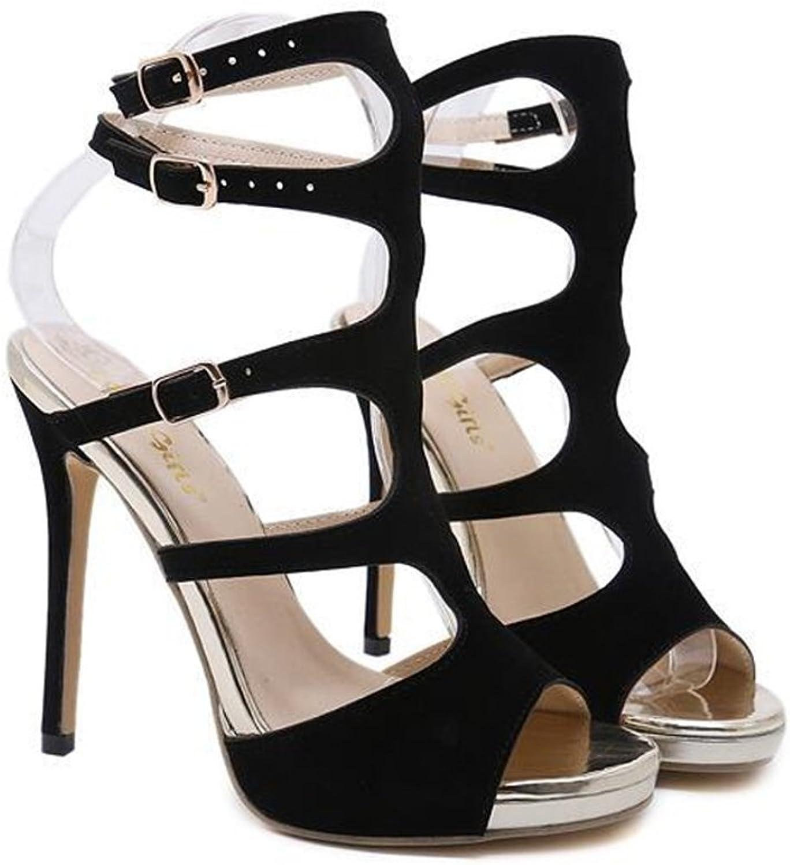 pink town Women High Heels Sandals Sexy Strappy Stilettos Pumps Open Toe Dress shoes
