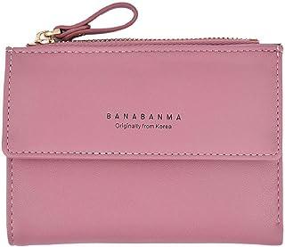 Rovinci_women bag Rovinci Frauen Leder PU Brieftasche Kupplung Geldbörse Lady Short Handtasche Tasche Pink