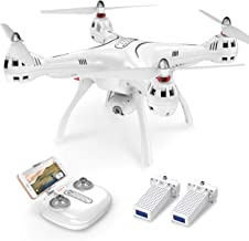 Syma X8PRO GPS RC Drone with FPV Adjustable Wide-Angle 720P HD Camera Live Video, White
