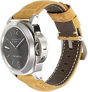 CHIMAERA Watch Band Vintage Crazy Horse Genuine Leather Watch Strap Replacement for Men Watchbands Bracelet Accessories