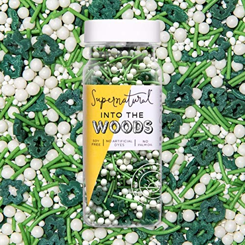 Into the Woods Sprinkles by Supernatural, Natural Confetti Sprinkles, Gluten-Free, Vegan, No Artificial Dyes, Soy Free for Healthy Baking, 3 oz
