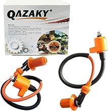 QAZAKY 2 Pcs Performance Ignition Coil for GY6 50cc - 90cc 110cc 125cc 150cc 4-stroke Engine Motorcycle Scooter ATV Go Kart Moped Quad Pit Dirt Racing Bike QMJ157 QMI157 QMJ152 QMI152 TaoTao Buyang