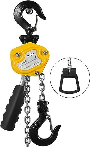 lowest Mophorn 0.25T discount Lever Block outlet sale Chain Hoist 3M 10Ft Chain Hoist Alloy Steel G80 Chain Ratchet Lever Hoist with Hook outlet sale
