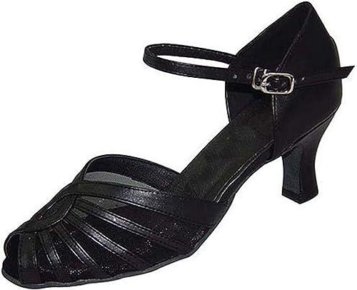 YFF Cadeaux femmes Dance danse danse latine Dance Tango chaussures 6CM,noir,41