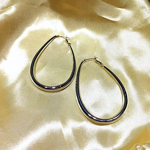 N/A Collares Mujer Pendientes Retro Geométrico Cuadrado Redondo Pendientes De Botón Torcido Collares De La Amistad para Collar Pareja
