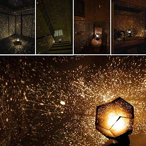 Goglor Star Lamp Projector, Fantasy Sky Map Projector Cosmos Romance Light Lamp Gypsophila Romantic Dream Projection Night Lamp