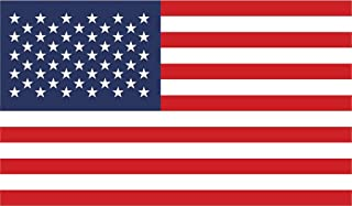 JMM Industries United States of America Flag Vinyl Decal Sticker USA Old Glory Car Window Bumper 2-Pack 5-Inches by 3-Inches Premium Quality UV-Resistant Laminate PDS563