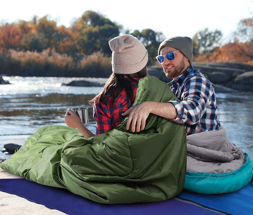 Camping with Compression Sack Waterproof Indoor /& Outdoor Use for Adults /& Kids for Backpacking Lightweight OUSTULE Camping Sleeping Bag -4 Season Warm /& Cool Weather Traveling Hiking