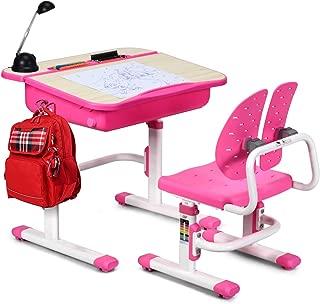 childrens desk pink