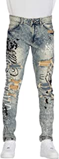 Smoke Rise Fashion Jeans with Paint(JP20130)