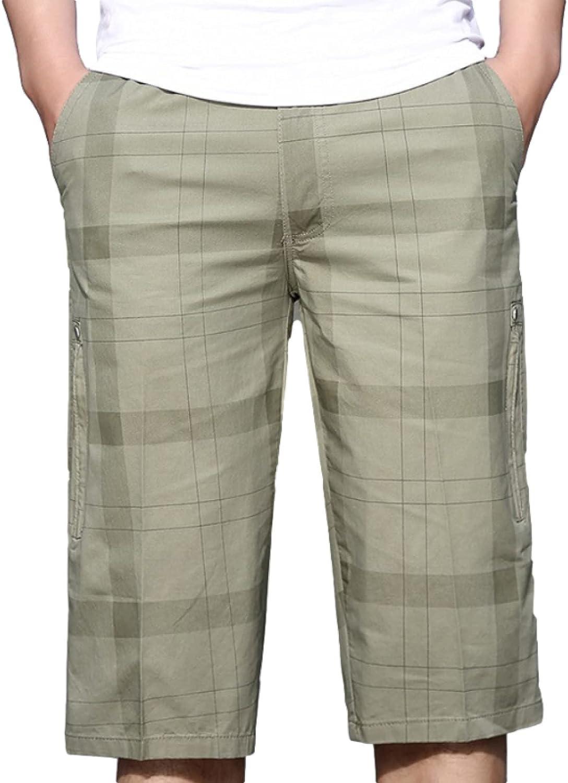 Men's Plus Size Plaid Shorts Fashion Loose Breathable Mid-Waist Comfortable