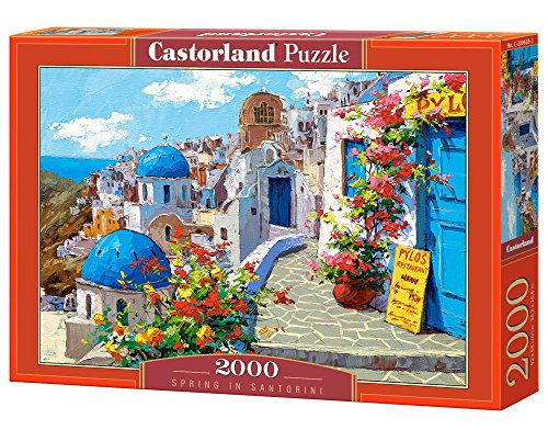 Castorland Spring in Santorini 2000 pcs Puzzle - Rompecabezas (Puzzle Rompecabezas, Arte, Niños y Adultos, Niño/niña, 9 año(s), Interior)