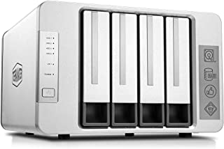 TerraMaster F4-210 4-Bay NAS Quad Core Network Attached Storage Media Server Personal Private Cloud (Diskless)