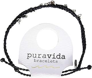 [PURAVIDA(プラヴィダ)] アンクレット Silver Mini Braded Coin Anklet - Black [並行輸入品]