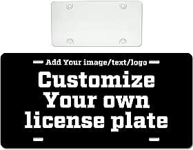 mchmcgm Car Tag Etiqueta del Coche License Plate Personalized Bitcoin Logo Aluminum License Plate Front License Plate 6 X 12 Inch