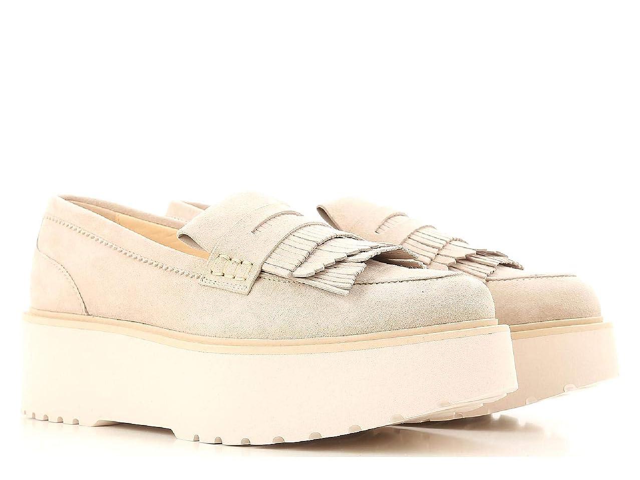 黄ばむ税金発表[HOGAN] レディース HXW3550AF10CR0M024 ベージュ セーム 布鞋