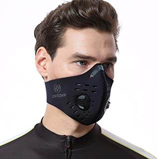 JQjian Bandanas with Breathing Valve for Cycling (Black)