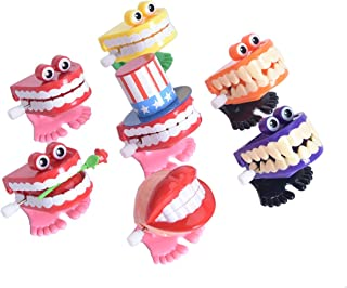 Annhua Waliking Teeth Toys, Chattering Smile Teeth Small Wind Up Feet Knickknack (7PCS/Pack)