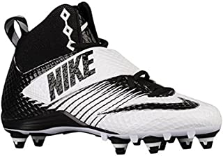 Lunarbeast Pro D Football Cleats White/Black-Black Size 10