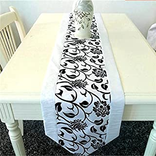 Bazaar Flocking Damask Table Runner Cloth Wedding Decoration