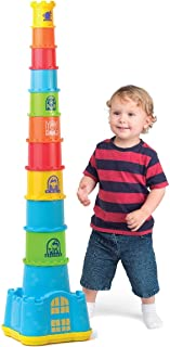 Happkid Stacking Cups with Castle Stacker for Toddler, Stacking and Sorting Nesting Toys Game for Kids from 12 Months (18 PCS)