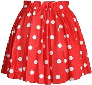 girls red and white polka dot skirt