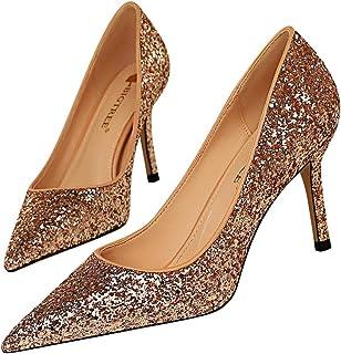 Moquite Donna Scarpe col Tacco Stiletto Pump Shoes Elegante Partito di Sera Sandali Scarpe
