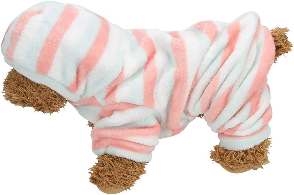 SALUTUYA Red Directly Translated managed store Green Stripe Autumn Hoodies Winter Pet Clothes