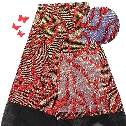 YFB Nigerianische Spitzenstoffe Afrikanischer Spitzenstoff 2020 Hochwertige Spitze mit Pailletten, grüner französischer Spitzenstoff für Kleid Neueste Netzspitze