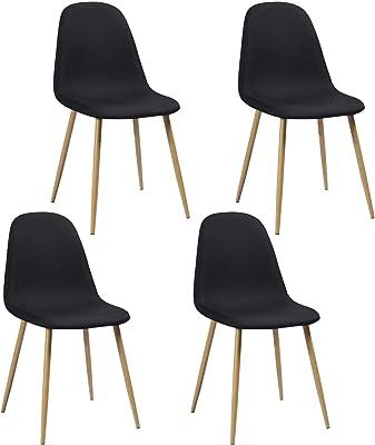MEUBLE COSY Lot de 4 Chaises Salle à Manger Scandinave Fauteuils de Salon Cuisine Bureau