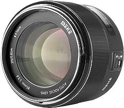 Meike 85mm F/1.8 Full Frame Auto Focus Prime Lens for Canon EOS EF Mount Digital SLR Cameras