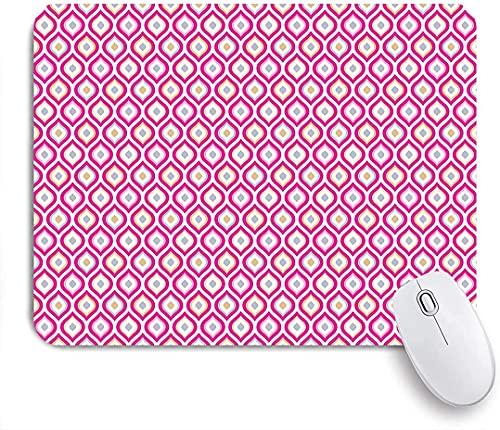 Tappetini per mouse da gioco, stampa ellittica nidificata con curve astratte, tappetini per mouse con base in gomma antiscivolo per laptop, computer, casa, ufficio