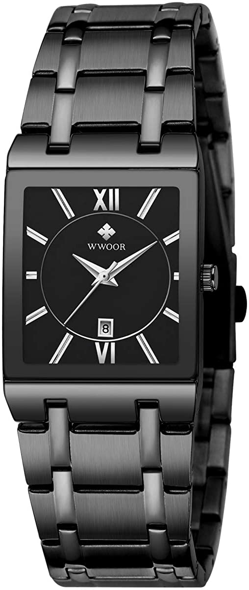 Square Watches for Men New popularity and Women Wat Low price Steel Mens Stainless